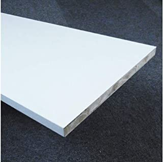 ホワイトポリランバー(1枚) WH-PL18-300-1200 1面木口テープ貼り 18mm厚×300×1200