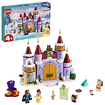 LEGO Disney Belle's Castle Winter Celebration  43180  Disney Princess Building Kit  Makes a Great Birthday for Kids who Love Disney's Beauty and The Beast  238 Pieces
