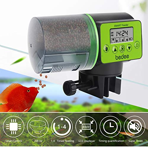Automatic Fish Feeder Electric Auto Fish Feeder Vacation Fish Feeder Moisture-Proof Fish Food Dispenser for Aquarium