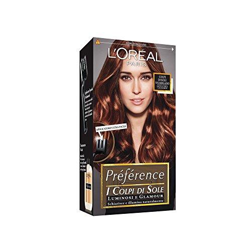 L'Oréal Paris Préférence Colpi di Sole Capelli Luminosi e Glamour, N6 Mogano