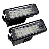 MuChangZi 2 Unids 12 V Número de LED Lámparas de Luz de Matrícula para V/W Golf 4 5 6 7 Polo 6R Luces de Placa de Matrícula de Coche Accesorios de Exterior