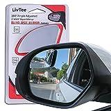 LivTee Blind Spot Mirror,Asymmetric Fan Shaped...