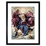 Painting Velazquez Coronation Of The Virgin Framed Wall Art Print ペインティング壁