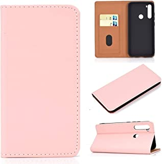 For Xiaomi Redmi Note 8 Solid Color Magnetic Horizontal Flip Leather Case with Card Slot & Holder New (Black) Lipangp (Color : Pink)