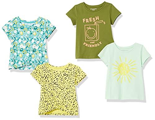 Amazon Essentials Short-Sleeve T-Shirts T-Shirt, Confezione da 4 Multi Jungle, 9-10 Anni, Pacco da 4