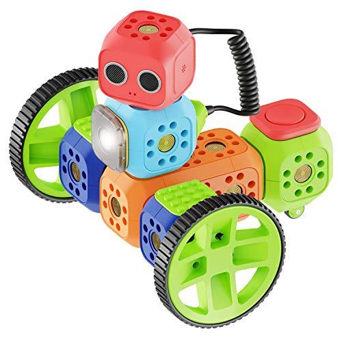 Robo Wunderkind Roboter Baukasten - Baue und Programmiere Roboter - Mint Spielzeug für 5-16-jährige Kinder - Kompatibel mit Lego - 3 gratis Apps (Education Set - 23 Teilen)