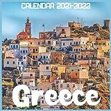 Greece Calendar 2021-2022: April 2021 Through December 2022 Square Photo Book Monthly Planner Greece, small calendar