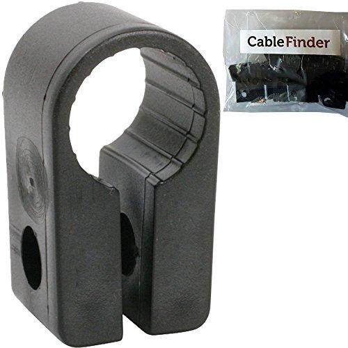 Cablefinder Offizielles –, 50Stück x 12,7mm schwarz Kabel Keil Clip–Größe 5–SWA und–Schraube P