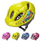 Casco Bicicleta Bebe Helmet Bici Ciclismo para Niño - Cascos para Infantil - Bici Casco para Patinete Ciclismo Montaña BMX Carretera Skate Patines monopatines (S(48-52 cm), Animal Friends)