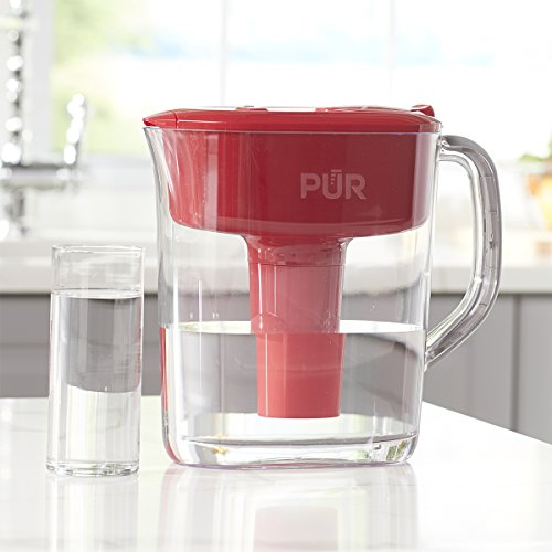 PUR 11 Cup Ultimate Pitcher with LED & Lead Reduction Filter, Red