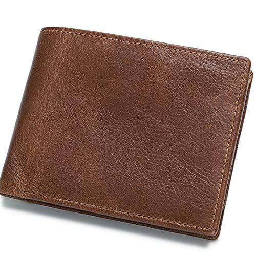 FVIWSJ Carteras de Hombre con Bolsillo de Moneda/Monedero con RFID Bloqueo para Tarjetas de Crédito Portamonedas Ligeros para...