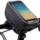 Zeagro Bolsa para manillar de bicicleta, soporte para teléfono de bicicleta, marco de ciclismo, bolsa de tubo superior, soporte para teléfono celular, pantalla táctil para de hasta 6,5 pulgadas