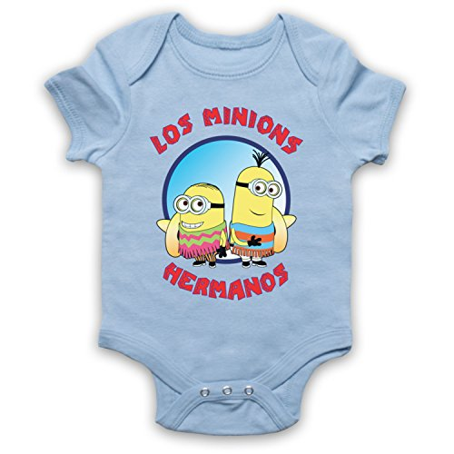 Los Minions Hermanos Funny Pollos Parody Bebe Barboteuse Body, Bleu Clair, 3-6 Mois