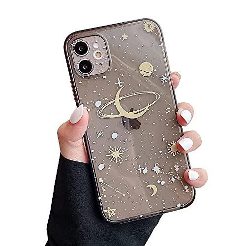 ZTOFERA Hülle für iPhone 11, Mond Star Design Klar TPU Weich Hülle, Schlank Anti-Kratzer Bumper Schutzhülle für iPhone 11 (6.1