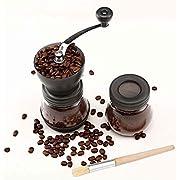 Cooko Manuelle Kaffeemühle, Premium Keramik Burr Hand Kaffeemühlen, Kaffeemühle zum von Kaffee, Nüsse ,Zarte und Kleine Reisemühle