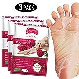 maschera foot peel (3 pezzi), maschere piedi esfolianti, esfoliante naturale per pelle morta secca, callo, riparazione tacchi ruvidi per uomo donna