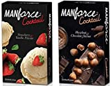 Manforce Cocktail Condom (Strawberry and Vanilla Flavored), (Chocolate & Hazelnut Flavored) Condom For