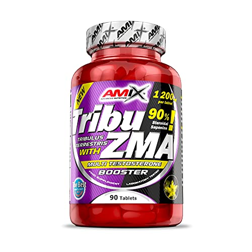 AMIX - Complemento Alimenticio - Tribu-ZMA - 90 Tabletas - Recuperador Muscular - Estimula la Testosterona - Aumenta la Masa Muscular - Complemento Deportivo
