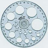 Linex 100413007 10er Pack Radiusschablone 71F Kreisschablone mit 16 Kreisen