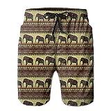 LarissaHi Pantalones Cortos de Playa para Hombre, Elefantes, Estampados africanos Bañadores 2XL