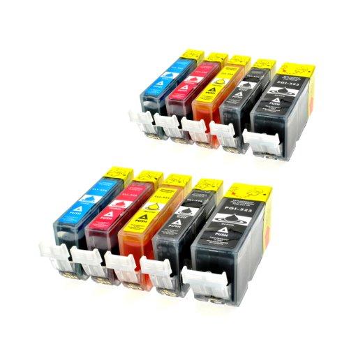 10 Tintenpatronen kompatibel für Canon PGI-525 CLI-526 Pixma IP 4850 4950 IX 6550 MG 5150 5240 5250 5340 5350 6150 6250 8150 8240 8250 MX 715 885 895