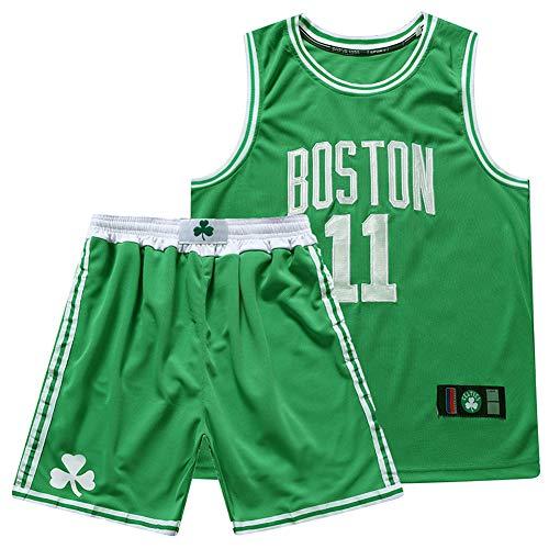 Boston Celtics # 11 Kyrie Irving Basketball uniform suit, tute da allenamento per uomo canottiere da basket top / abiti corti tessuti traspiranti e idratanti ad asciugatura rapida (taglia: xs-xxxl)-gr