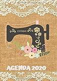 Agenda 2020: Tema Costura Agenda Mensual y Semanal + Organizador Diario I Planificador Semana Vista A4 Burlap Encaje