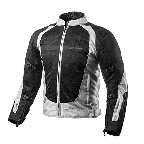 SHIMA X-MESH, Sport Verano Reflexivo Elegante Comodidad Chaqueta de Moto (S-XXL), Gris, Tamaño: M