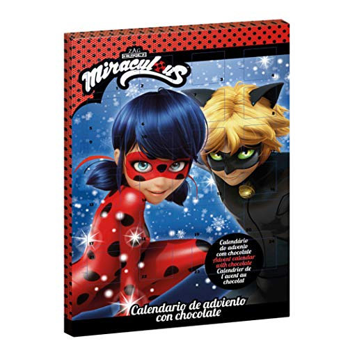 Dekora Miraculous: Las Aventuras de Ladybug y Cat Noir 2019 Chocolate con Leche Calendario de Adviento Exclusivo