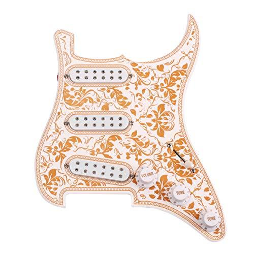 SUPVOX Pastillas Pickguard Precableadas Cargadas de Guitarra Eléctrica Pastillas de Guitarra de 12 Tornillos Guitarra Simple Bobina Humbuckers para Fender Strat Stratocaster Piezas de Guitarra