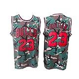 OKMJ Camisetas de baloncesto para hombre, Bulls 23# Jordan Retro bordado Jerseys, Malla Transpirable sin Mangas Chaleco Deportes Fitness Swingman Jersey H-M