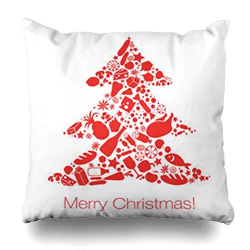 Babydo Bank Kussens Peper Rood Diner Kerstboom Voedsel Brieven Feestdagen Tafel Cook Gezond Supermarkt Abstract Binnen Individueel Sofa Home Decor 45X45Cm Kussensloop Speciale Squa