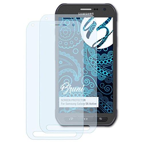 Bruni Schutzfolie kompatibel mit Samsung Galaxy S6 Active Folie, glasklare Bildschirmschutzfolie (2X)