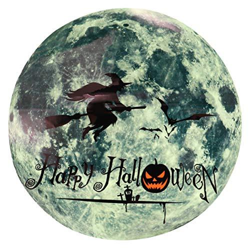 NUOBESTY - Adhesivo luminoso de bruja de Halloween, brilla en la oscuridad, para fiestas de Halloween, ventanas, oficinas, accesorios de broma