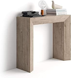 MOBILI FIVER Mobilifiver Table Console Giuditta, Chêne Naturel, 90 x 30 x 75 cm, Mélaminé, Made in Italy