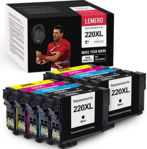 LEMERO Remanufactured Ink Cartridge Replacement for Epson T220XL
