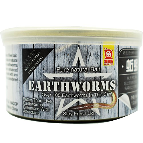 Pet Growther Earthworms for Fishing Bait and Feeding Reptiles, Birds, Chickens