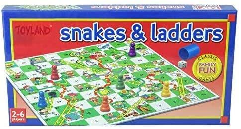 Toyland® Serpents et échelles Jeu de société Traditionnelle Jeu de Famille