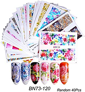 Kanggest.40 Hojas Arte de uñas Pegatinas Conjunto 3D Decoracion de uñas para Mujeres Niñas Nail Sticker Etiquetas engomada...