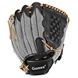 Gonex Youth Kids Baseball Glove Right Hand Throw, Fastpitch Slowpitch Softball Mitt for Women, 12.5 Inch Outfield Infield Glove with Carrying Bag