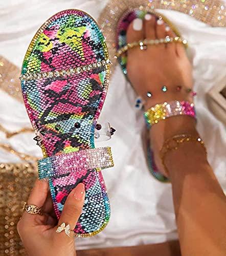 Liumintoy Sandalias para Mujer sin Espalda Verano Antideslizante Ortopédica Vintage Sandalias con Punta Abierta Mules Cómodos Zapatillas Sandalias de Cuña,A,42 CN