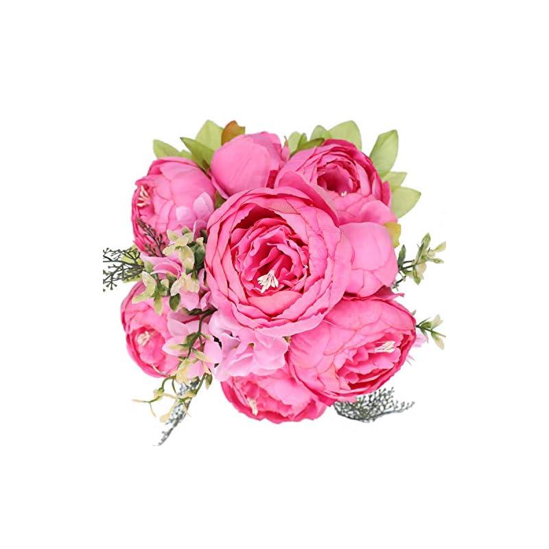 silk flower arrangements floralsecret artificial silk peony bouquet vintage fake flower home decor wedding centerpiece(spring rose red)