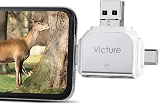 Victure Trail Game Camera Viewer for iPhone iPad Mac Android, Micro SD and SD Memory Card Reader to View Wildlife Surveill...
