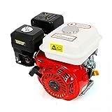 Motor de gasolina horizontal con rosca Go Kart de 4 tiempos, 5,1 kW, 6,5 HP, motor vertical de 1 cilindro, color rojo