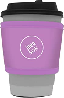Java Sok Reusable Hot Coffee Cup Insulator Sleeve for Hot Coffee and Tea from Starbucks Coffee, McDonalds, Dunkin Donuts, More (Lilac)