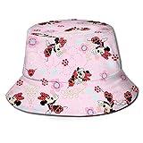 Bucket Hat Minnie Mouse Pink Bucket Sun Hat para Hombres Mujeres -Gorra de Pescador de Verano Empacable de protección para Pesca, Safari, Paseos en Bote en la playa-T75