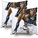 Fundas de almohada, diseño de caballos, acuarela, para decoración de sofá, hogar, dormitorio, etc.