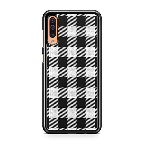 Gray Plaid Case For Samsung Galaxy A50 Case Custom Plaid Checkered Galaxy Phone Cover A9998