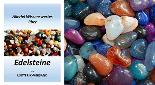 Edelsteine, polierte Trommelsteine, Achate, bunte Mischung, klein, Größe ca. 2 cm, 1 kg-Beutel, incl. 36seitige Broschüre