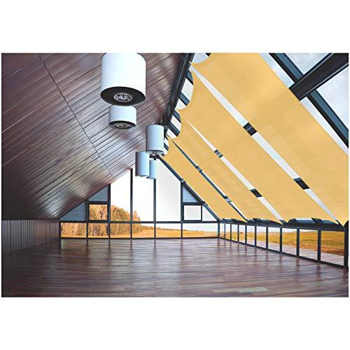 JOYARDS Toldo Vela de Sombra Rectangular 3x4 Metros Transpirable Color Arena | Se instala fácil en Fachada Exterior, Terraza, Jardín, Pérgola, Patio o Balcón | Toldo Completo: Manual y Cuerdas 1,5m x4